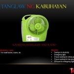 Tanglaw ng Kabuhayan - Solar Fan, Light & Radio